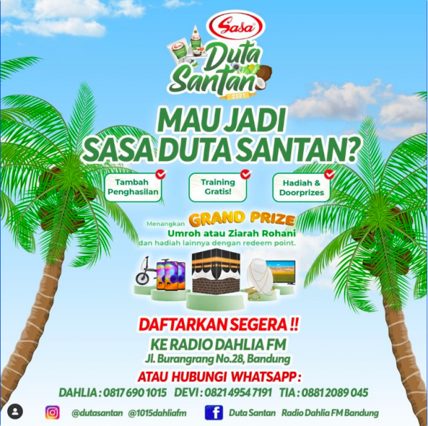 Sasa Duta Santan Bersama Dahlia FM
